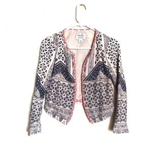 Lucky Brand All-Over Boho Print Jacket Cardigan